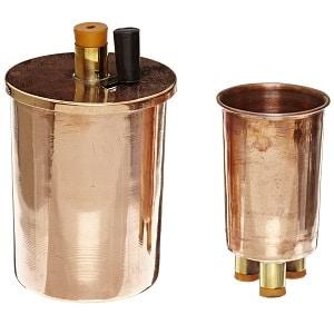 3.EISCO Copper Polished Calorimeter Set